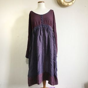 Johnny Was Boho Embroidered Maxi Dress Large